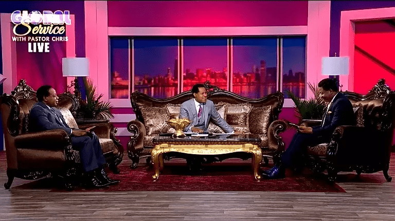 Spiritual discussions onset of the Global Communion Service with Pastor Chris Oyakhilome