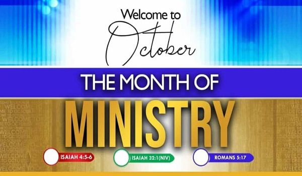 Month Of Ministry October