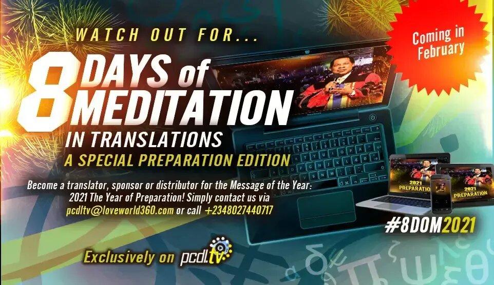 Pastor Chris Oyakhilome * Days of Meditation